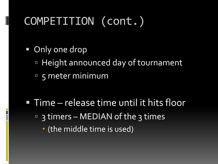 COMPETITION (cont.)