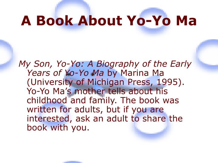 A Book About Yo-Yo Ma