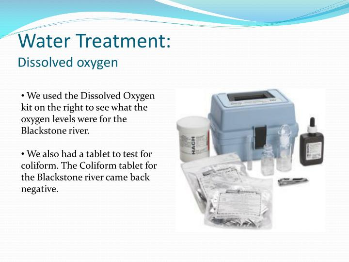 Water treatment dissolved oxygen