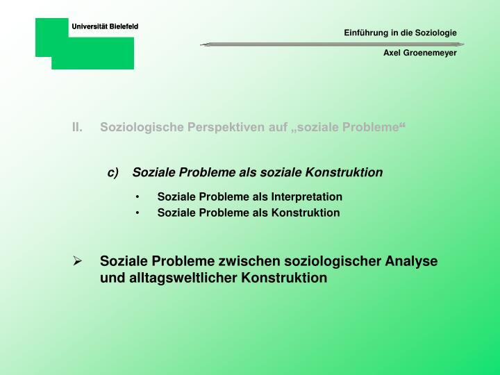 """Soziologische Perspektiven auf """"soziale Probleme"""
