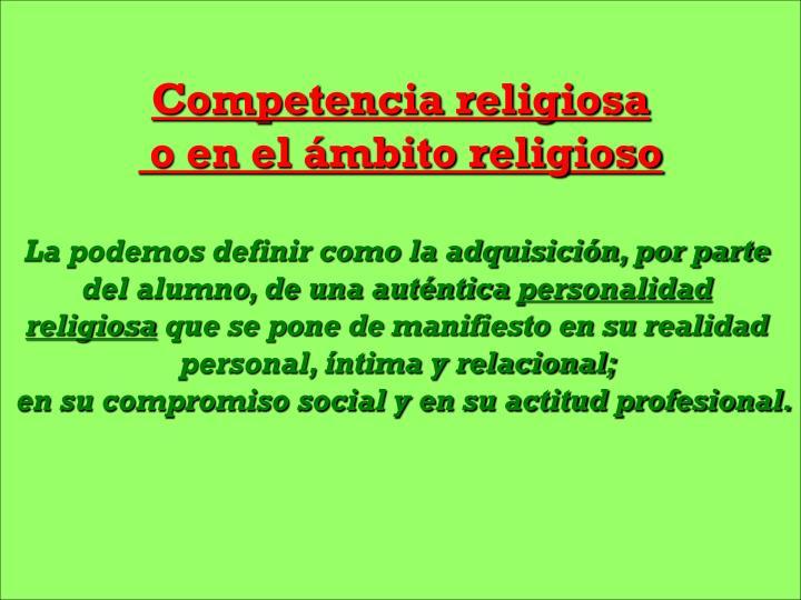 Competencia religiosa