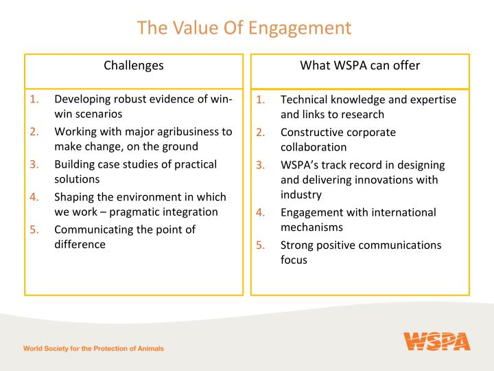 What WSPA can offer