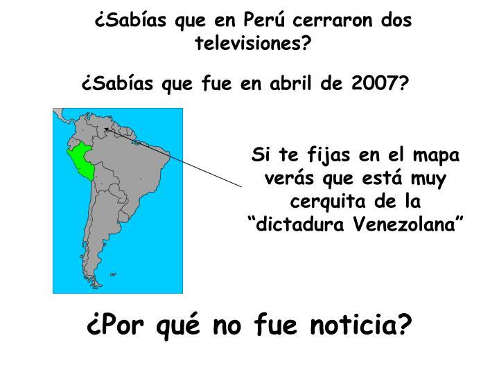 ¿Sabías que en Perú cerraron dos televisiones?