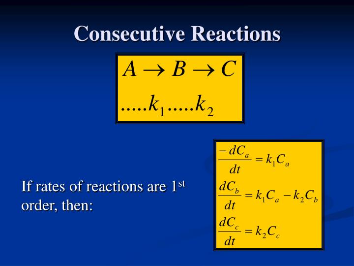 Consecutive Reactions
