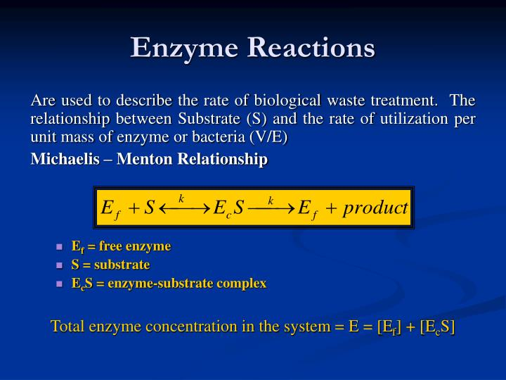 Enzyme Reactions