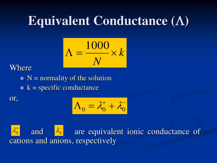 Equivalent Conductance (
