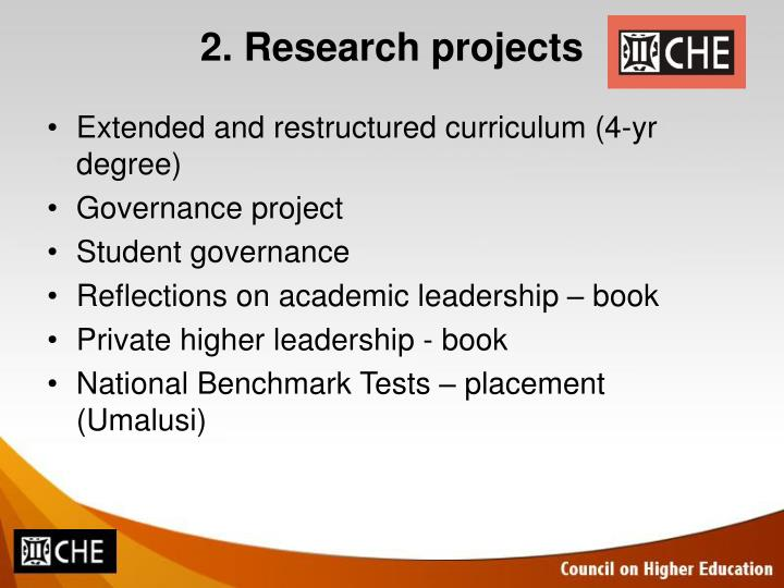 2. Research projects