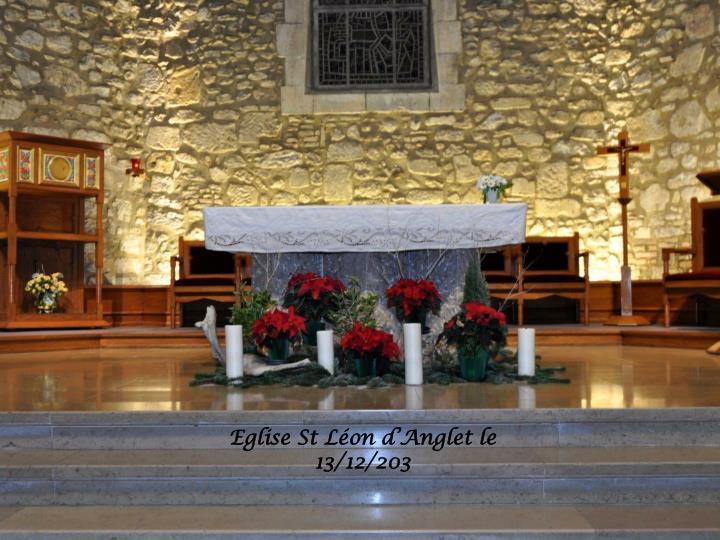 Eglise St Léon d'Anglet le 13/12/203