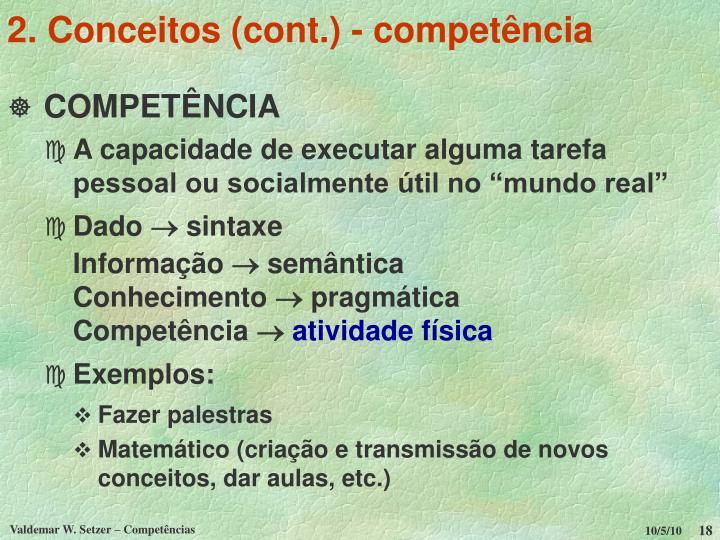 2. Conceitos (cont.) - competência