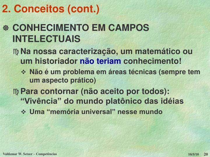 2. Conceitos (cont.)