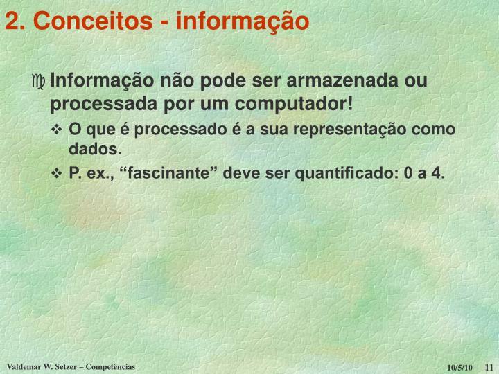 2. Conceitos - informação