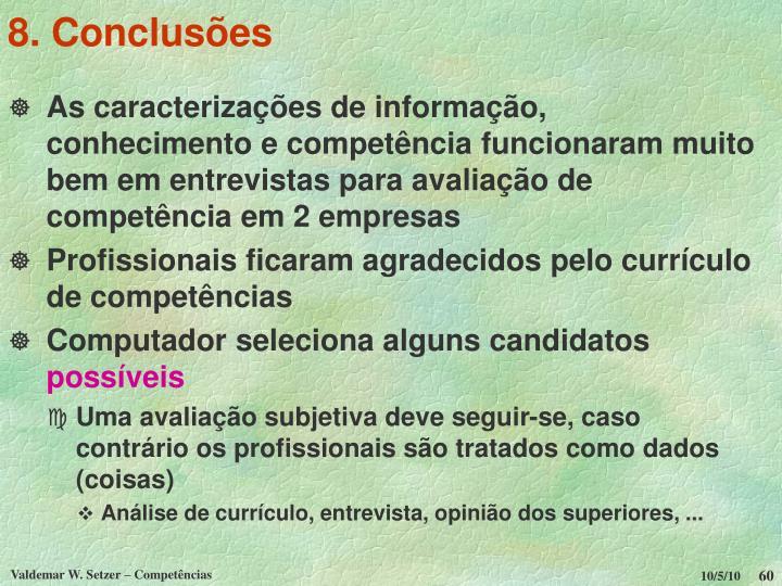 8. Conclusões