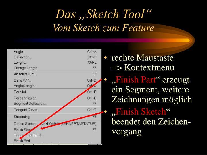 """Das """"Sketch Tool"""""""