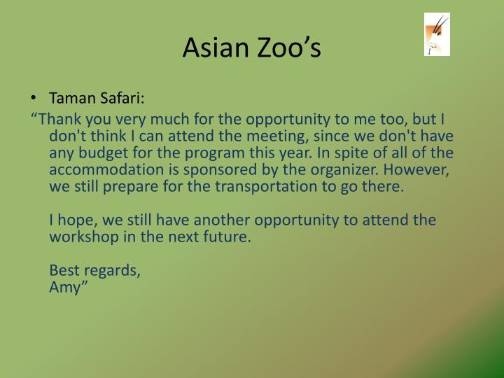 Asian Zoo's