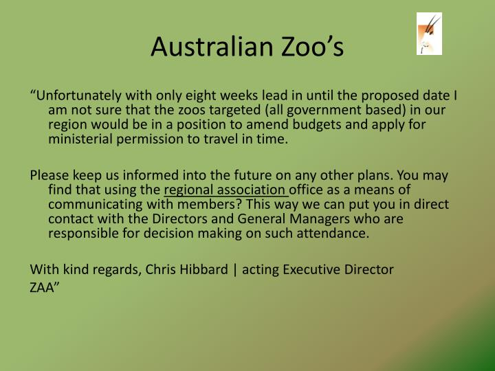 Australian Zoo's