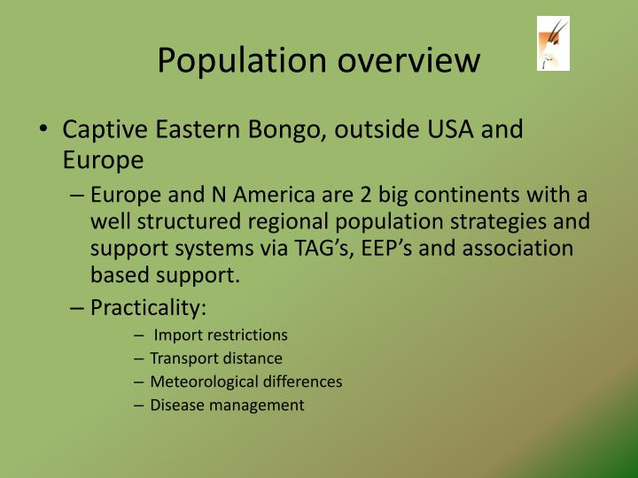 Population overview