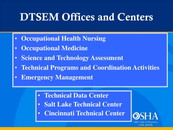 DTSEM Offices and Centers