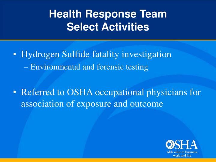 Health Response Team