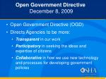 open government directive december 8 2009