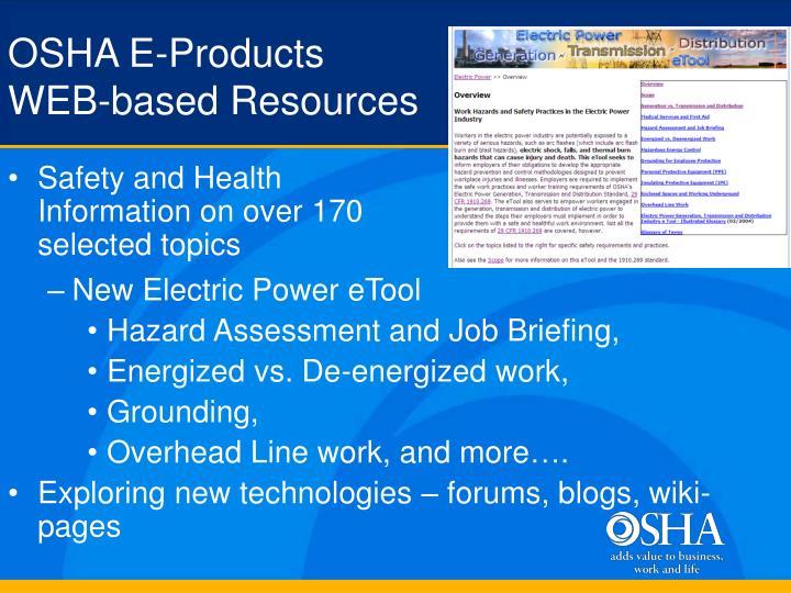 OSHA E-Products