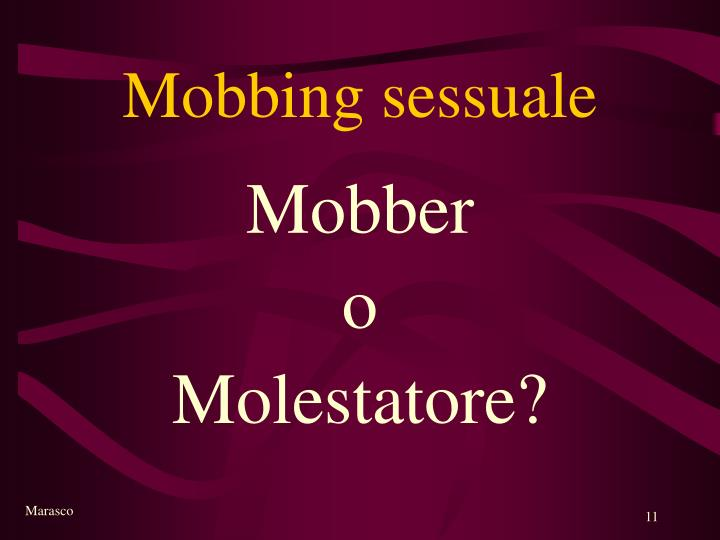 Mobbing sessuale