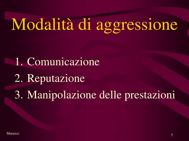 Modalità di aggressione