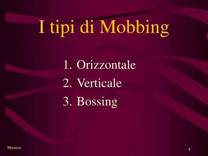 I tipi di Mobbing