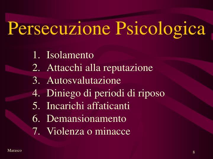 Persecuzione Psicologica