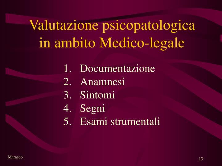 Valutazione psicopatologica