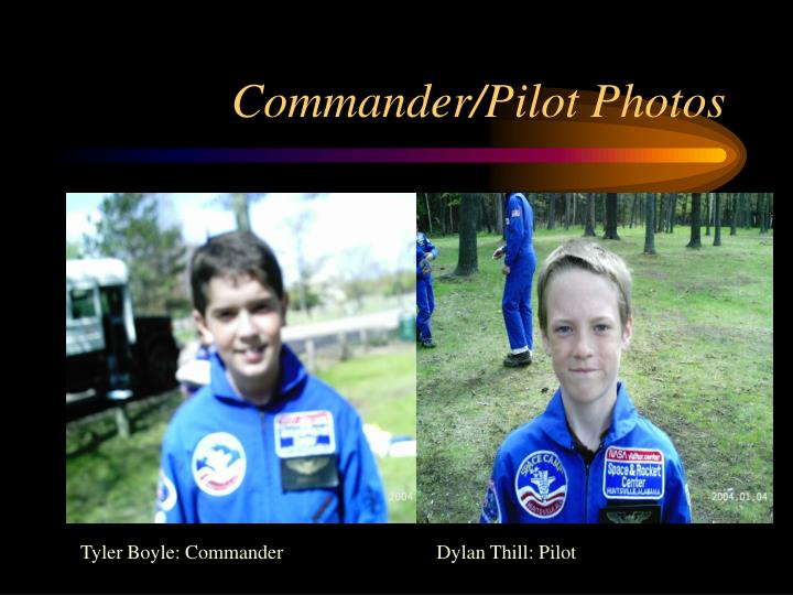 Commander/Pilot Photos