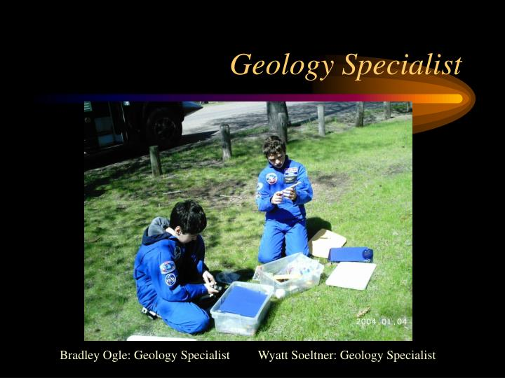 Geology Specialist