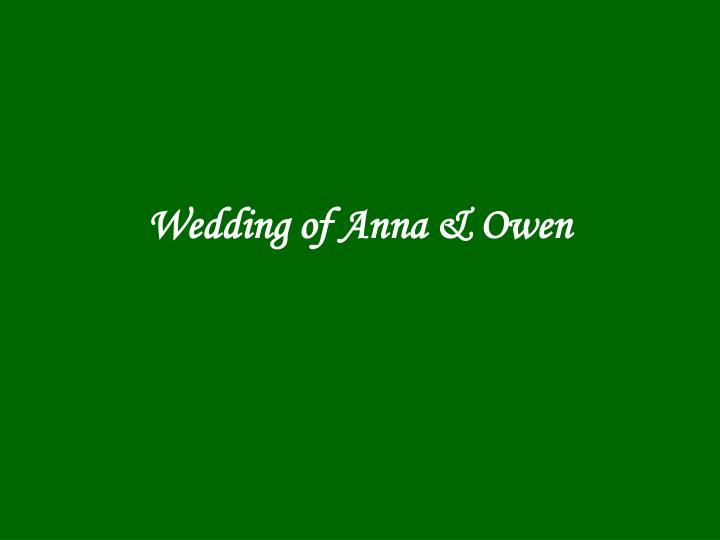Wedding of anna owen