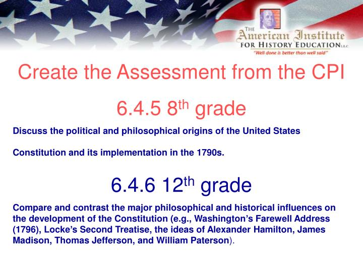 Create the Assessment from the CPI
