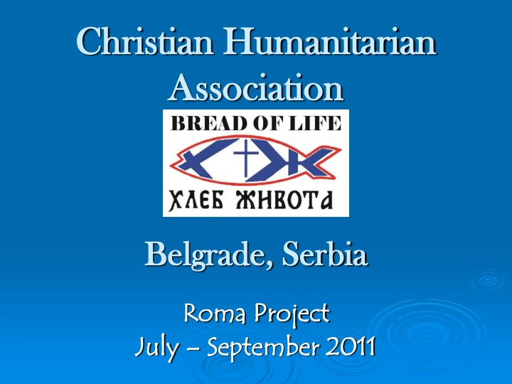 Christian Humanitarian Association
