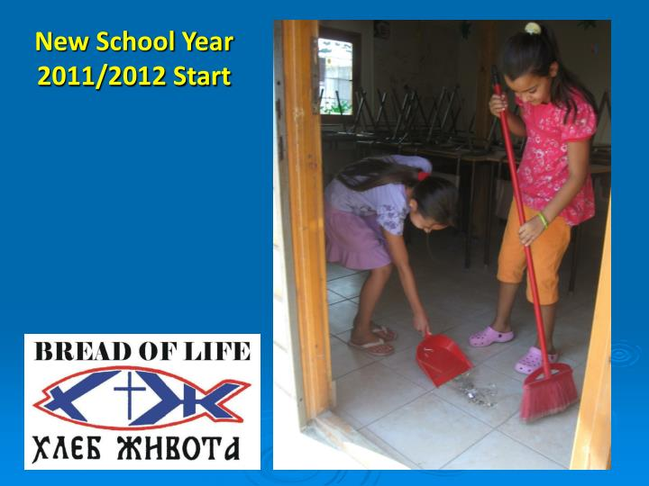 New School Year 2011/2012 Start