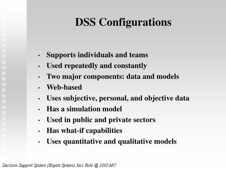 DSS Configurations