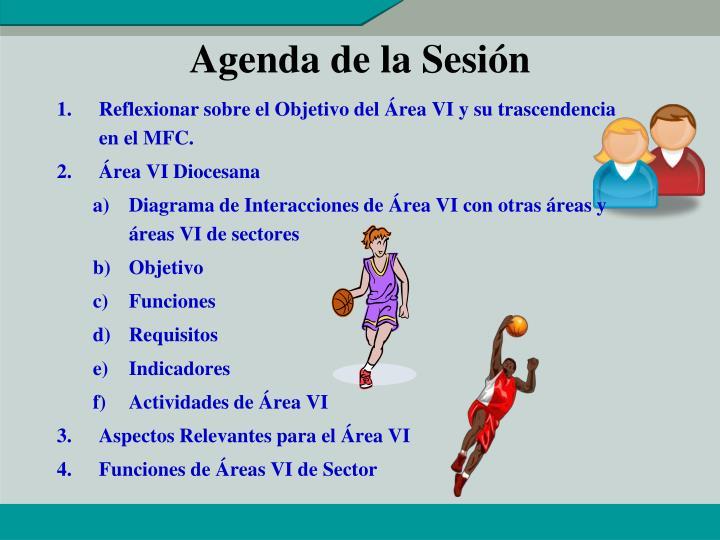 Agenda de la Sesión