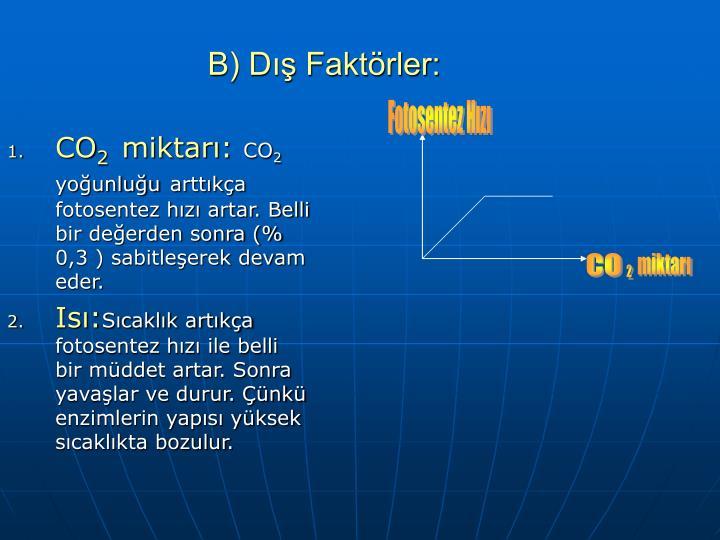 B) Dış Faktörler: