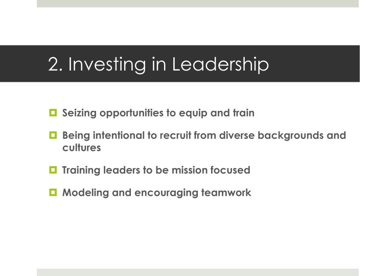 2. Investing in Leadership