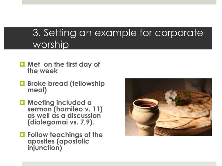 3. Setting an example for corporate