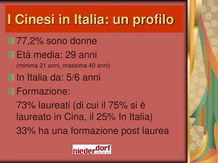 I Cinesi in Italia: un profilo