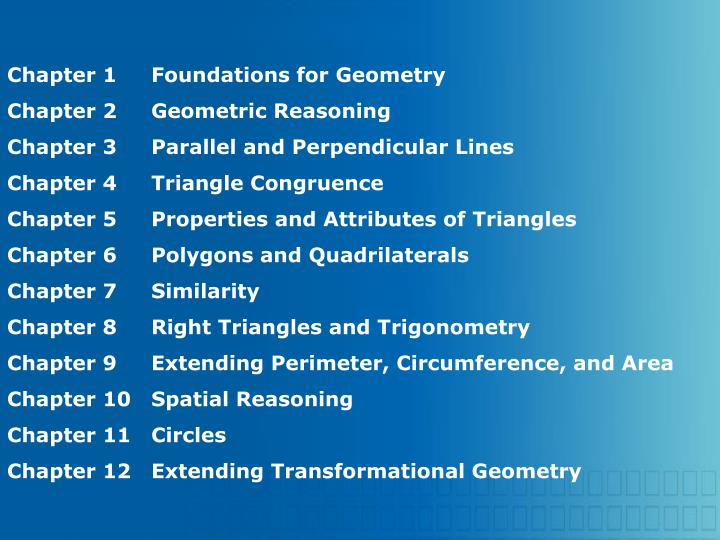 Chapter 1Foundations for Geometry