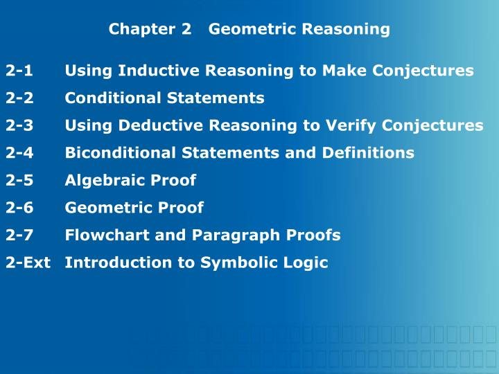 Chapter 2Geometric Reasoning