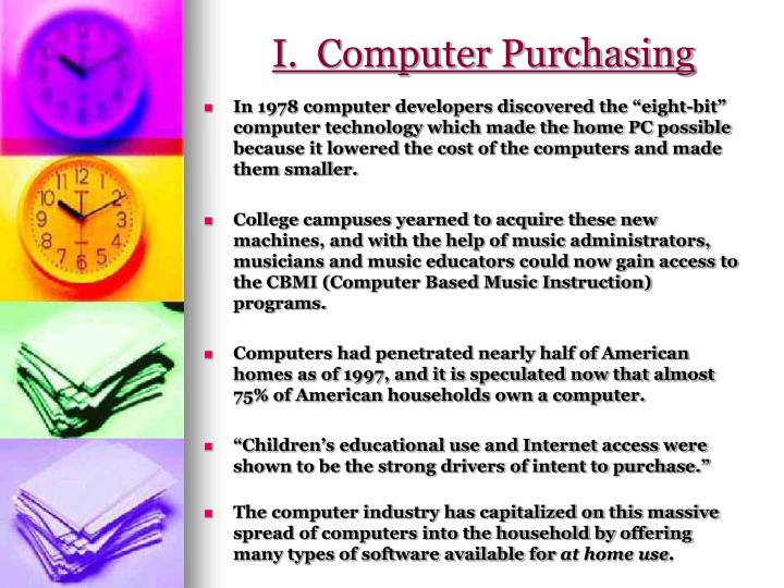 I.  Computer Purchasing