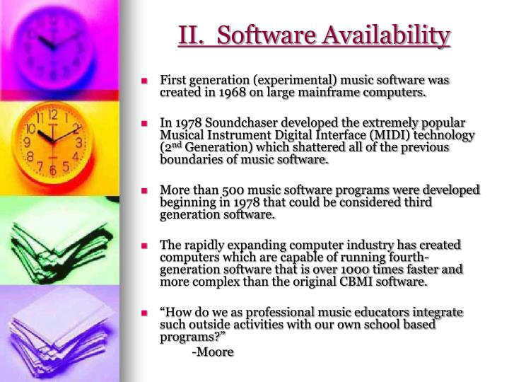 II.  Software Availability