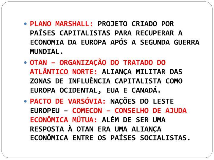 PLANO MARSHALL: