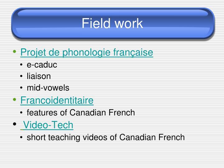 Projet de phonologie française