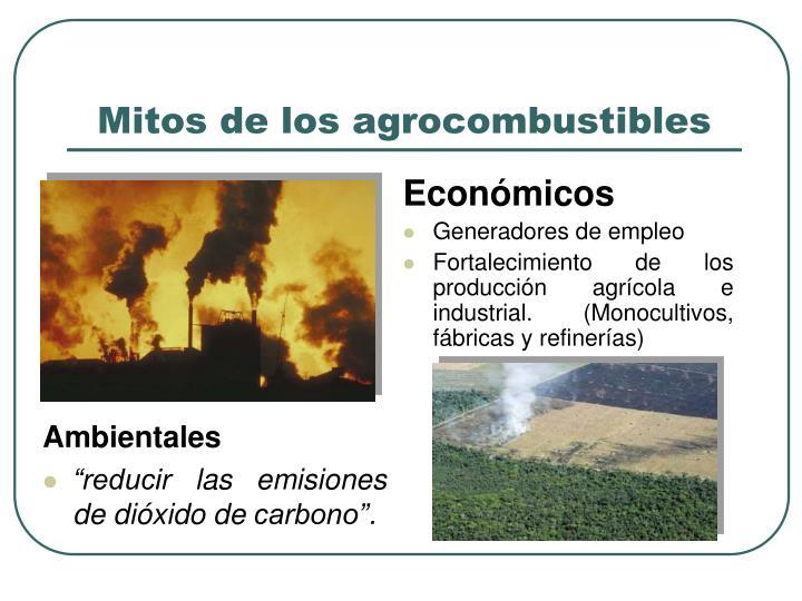 Mitos de los agrocombustibles