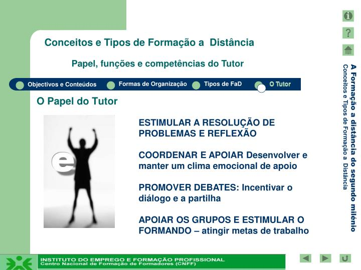 O Papel do Tutor