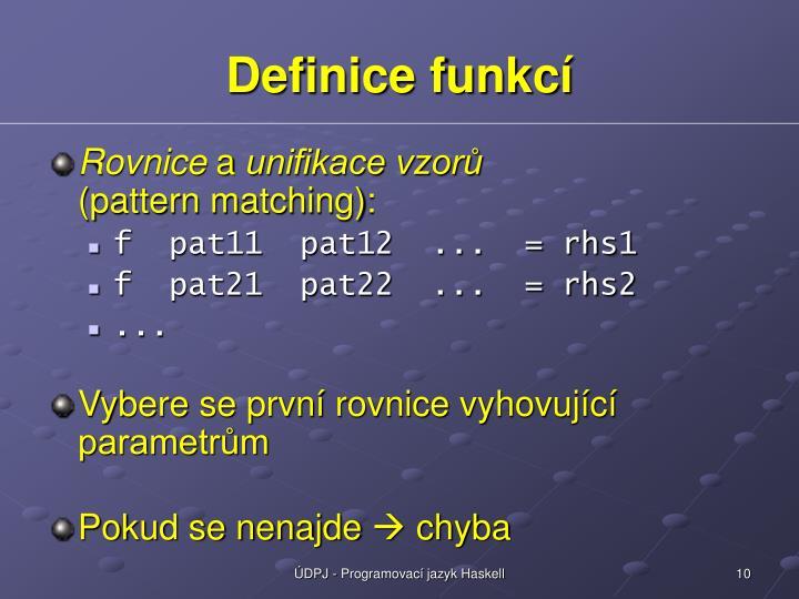Definice funkc